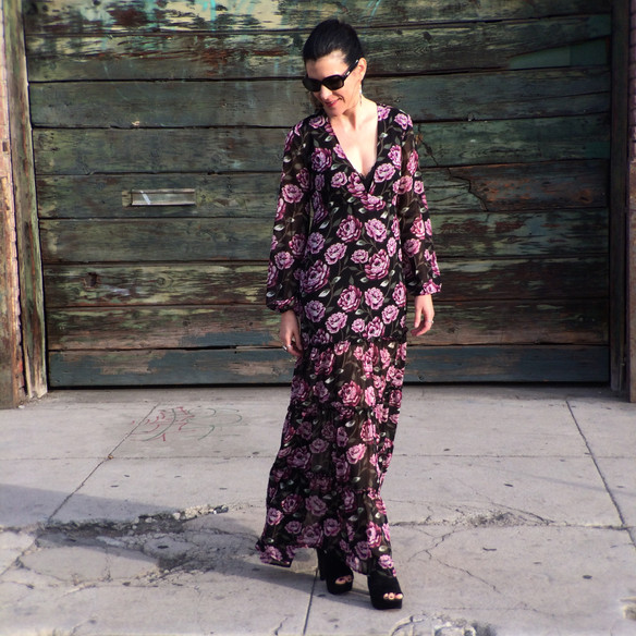 How I Styled My Dark Floral Dresses