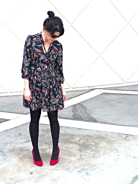 Retro Paisley Fall Dress