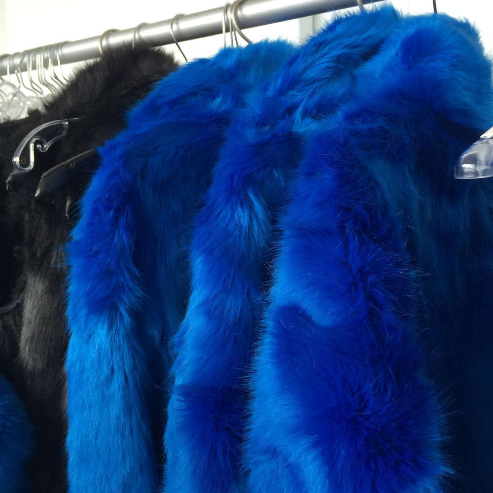 Faux fur jackets from nphilanthropy clothing.
