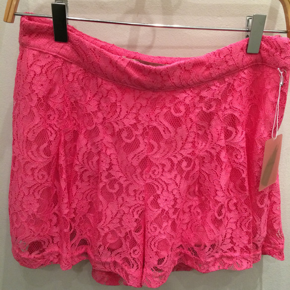 Pink Lace Shorts -- Epic Grown Woman Fashion Fail