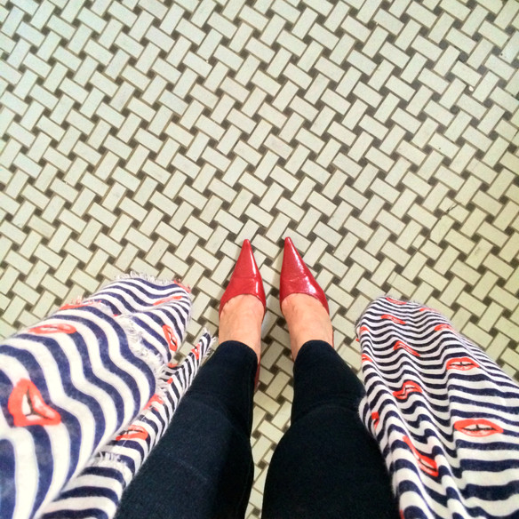 Red Lips and Red Shoes
