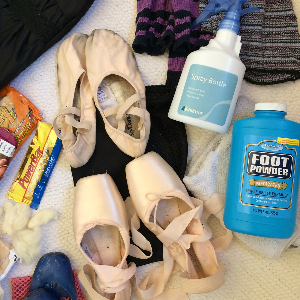Ballet slippers and pointe shoes