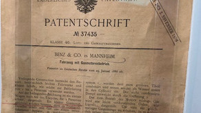 First issued automobile patent