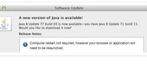 USPTO and Java v8 update 77 build 03