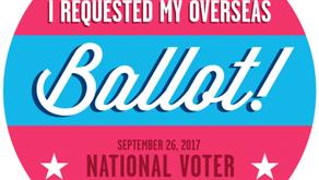Overseas voter registration