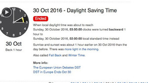 Daylight Saving Time ends in Europe