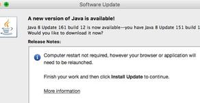 USPTO and Java v8 update 161 build 12