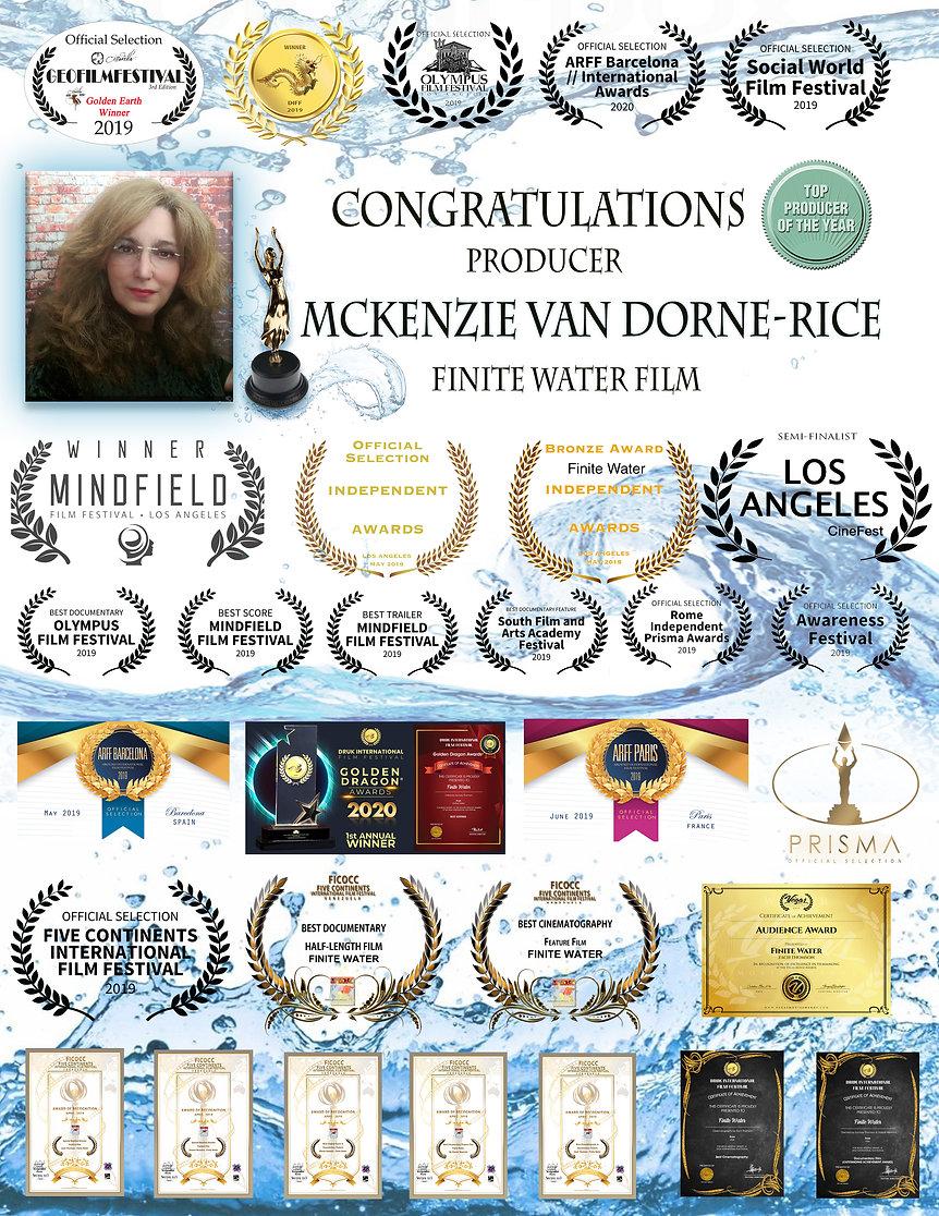 McKenzie Van Dorne-Rice Producer Awards