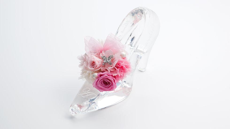 クリスタルガラスの靴プリザーブドフラワー
