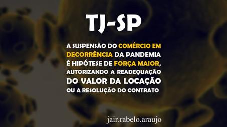 TJ-SP – A suspensão do comércio em decorrência da pandemia é hipótese de força maior