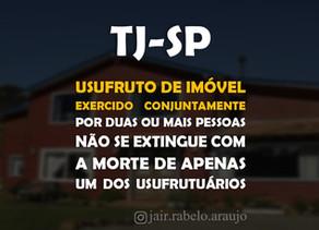 TJ-SP – Usufruto de imóvel exercido conjuntamente por duas ou mais pessoas não se extingue com a mor