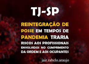 TJ-SP – Reintegração de posse em tempos de pandemia traria riscos aos profissionais envolvidos no