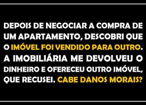 #QUESTÃO IMOBILIÁRIA 07 - danos morais