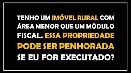 # QUESTÃO IMOBILIÁRIA 11 – pequena propriedade rural
