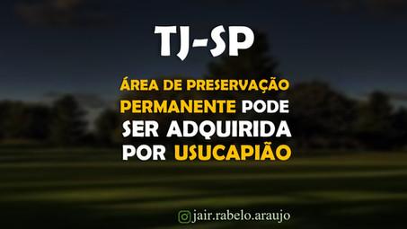 TJ-SP - Área de Preservação Permanente pode ser adquirida por usucapião.
