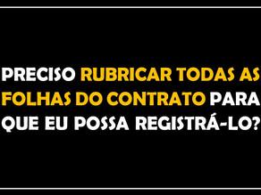 #QUESTÃO IMOBILIÁRIA 16 – rubrica nos contratos