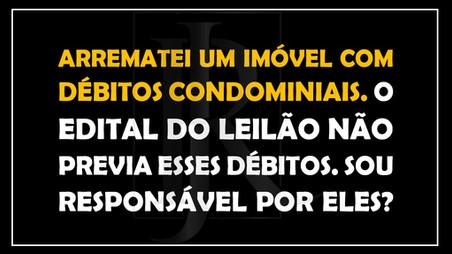 #QUESTÃO IMOBILIÁRIA 22 – arrematação e débitos condominiais