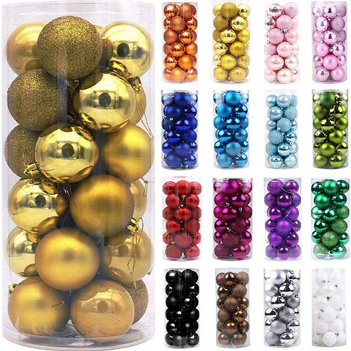 KAD Christmas Balls Ornaments for Xmas Tree - Shatterproof Christmas T