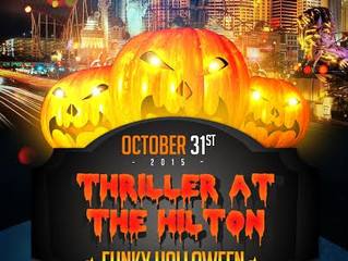 Saturday Oct 31- Grand Halloween Dance Party - Thriller at the Hilton -