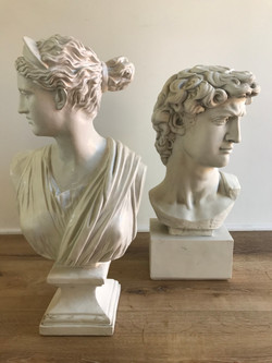 Bust of David and Venus
