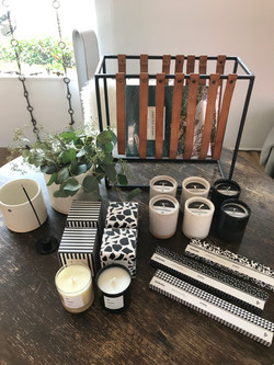 Magazine Rack and candles