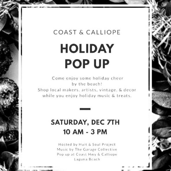 Holiday Pop Up Market
