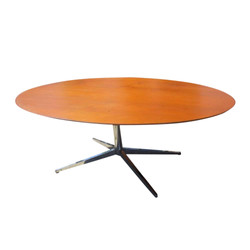 knoll-teak-oval-conference-table-7075