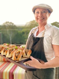 Bratwurst HotdogStout & Onion Jam Stone Ground Mustard Aioli