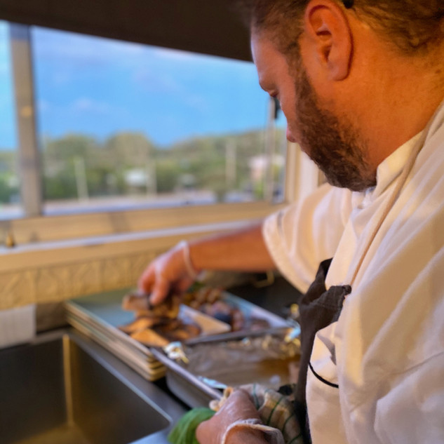 CHEF SIMON WALLACE WITH GOOD 2 EAT CATERING