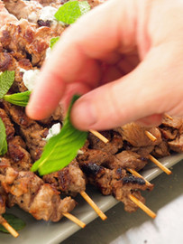 Greek Lamb Skewers Spice Rubbed koftas A Mint & Sumac Yoghurt (GF)