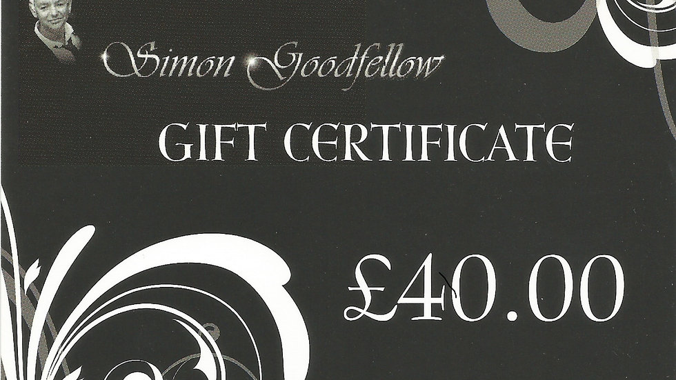 The Simon Goodfellow Gift Voucher