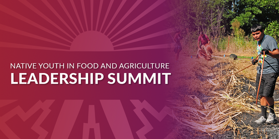 2020 Native Youth in Food and Agriculture Leadership Summit NOW OPEN!