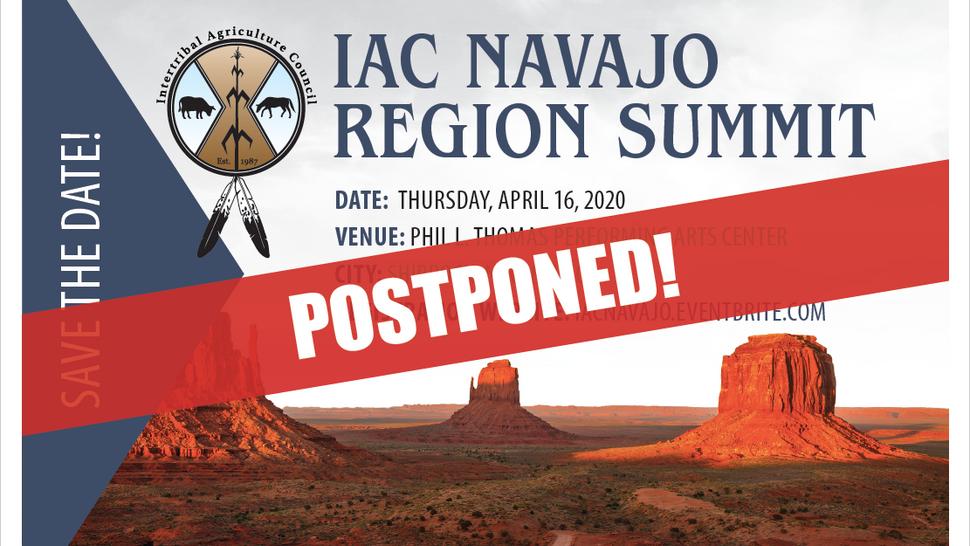 POSTPONED: IAC Navajo Region Summit