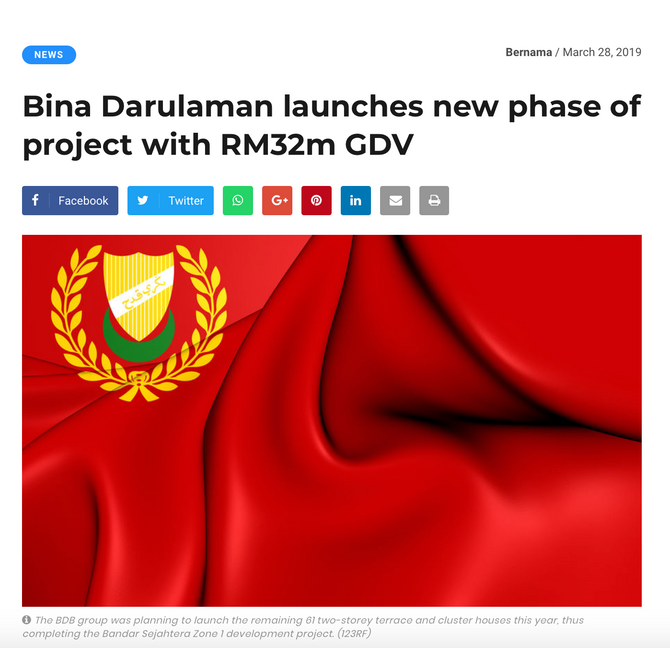 THE EDGE PROPERTY: BINA DARULAMAN LAUNCHES NEW PHASE OF PROJECT WITH RM 32 MILLION GDV