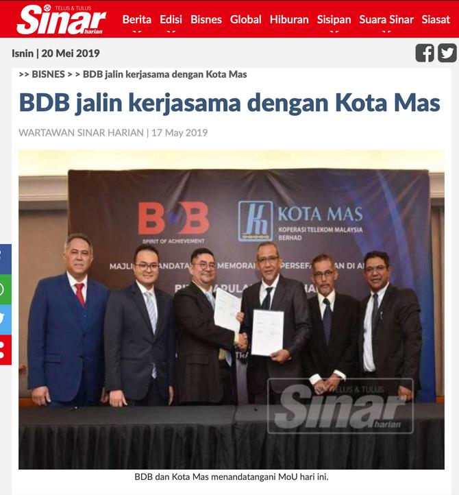 BDB Jalin Kerjasama Dengan Kota Mas