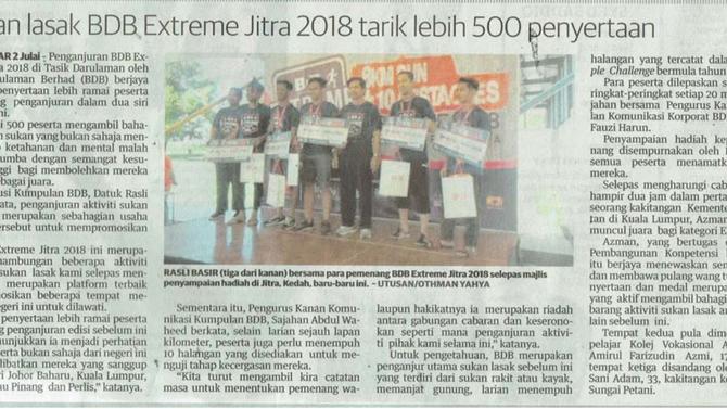Sukan lasak BDB Extreme Jitra 2018 tarik lebih 500 penyertaan