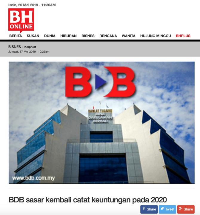 BDB Sasar Kembali Catat Keuntungan Pada 2020