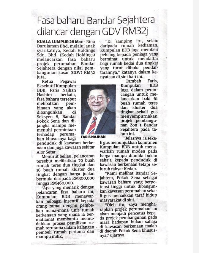Keratan Akhbar: Utusan Malaysia
