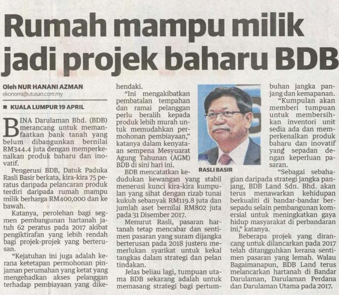 Keratan Akhbar | 20 April 2018