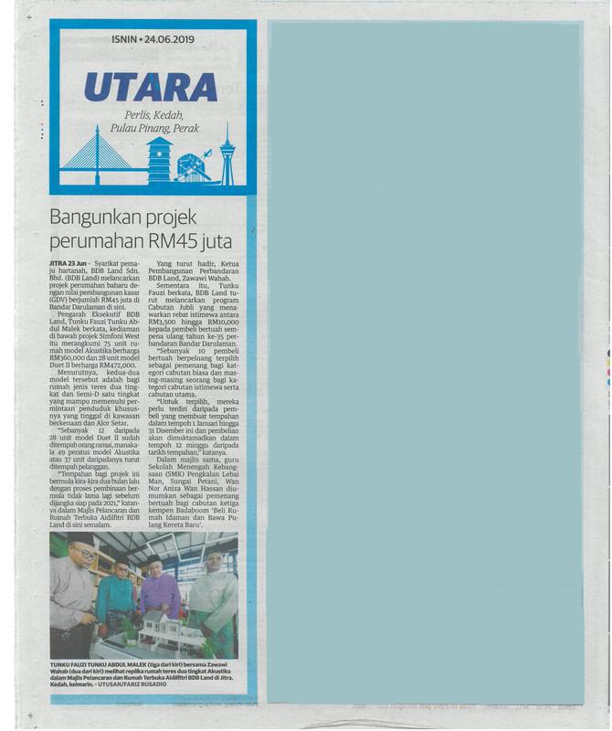 Utusan Malaysia | 24 Jun 2019