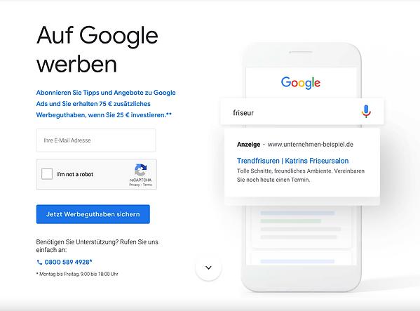Google'dan size 75 Euro'luk hediye ceki