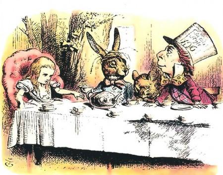 Alice in Wonderland's imaginary kitchen