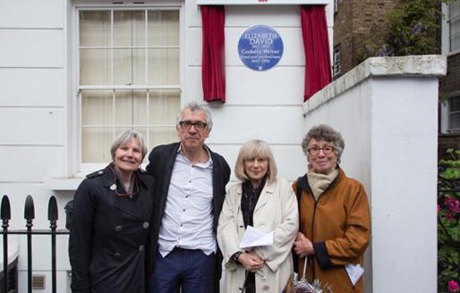 Unveiling a blue plaque for Elizabeth David