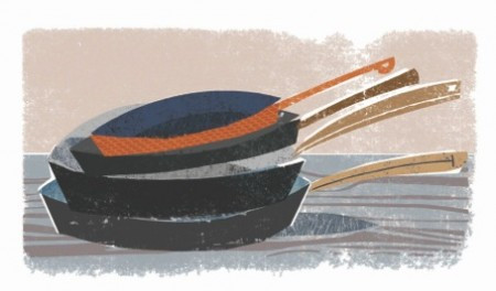 The kitchen of small things: tools, pots and surfaces