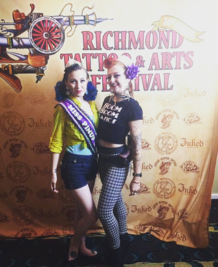 1st Annual Miss Pinup RVA winner, Bonnie de Lovely w/ producer, Deanna Danger.