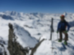 Mountaineering in the Swiss Valais