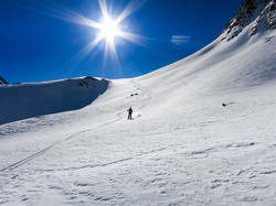 Uncrowded powder skiing