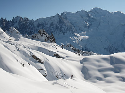 Skitouring in Chamonix with a mountainguide
