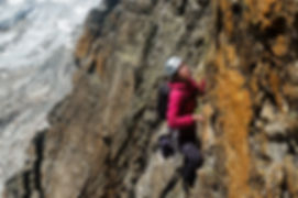 Alpine rockclimbing