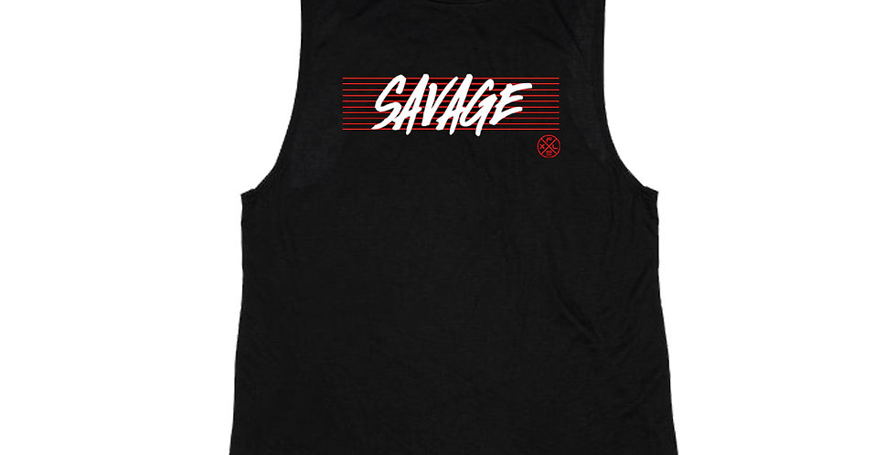 Women's Savage Muscle Tee - Black